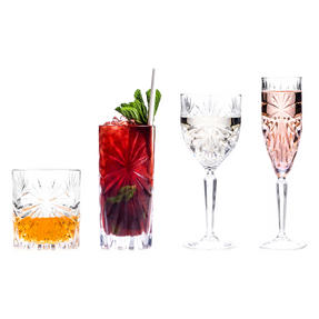 RCR COMBO-2558 Oasis Luxion Crystal Large Drinkware Collection, 48 Piece