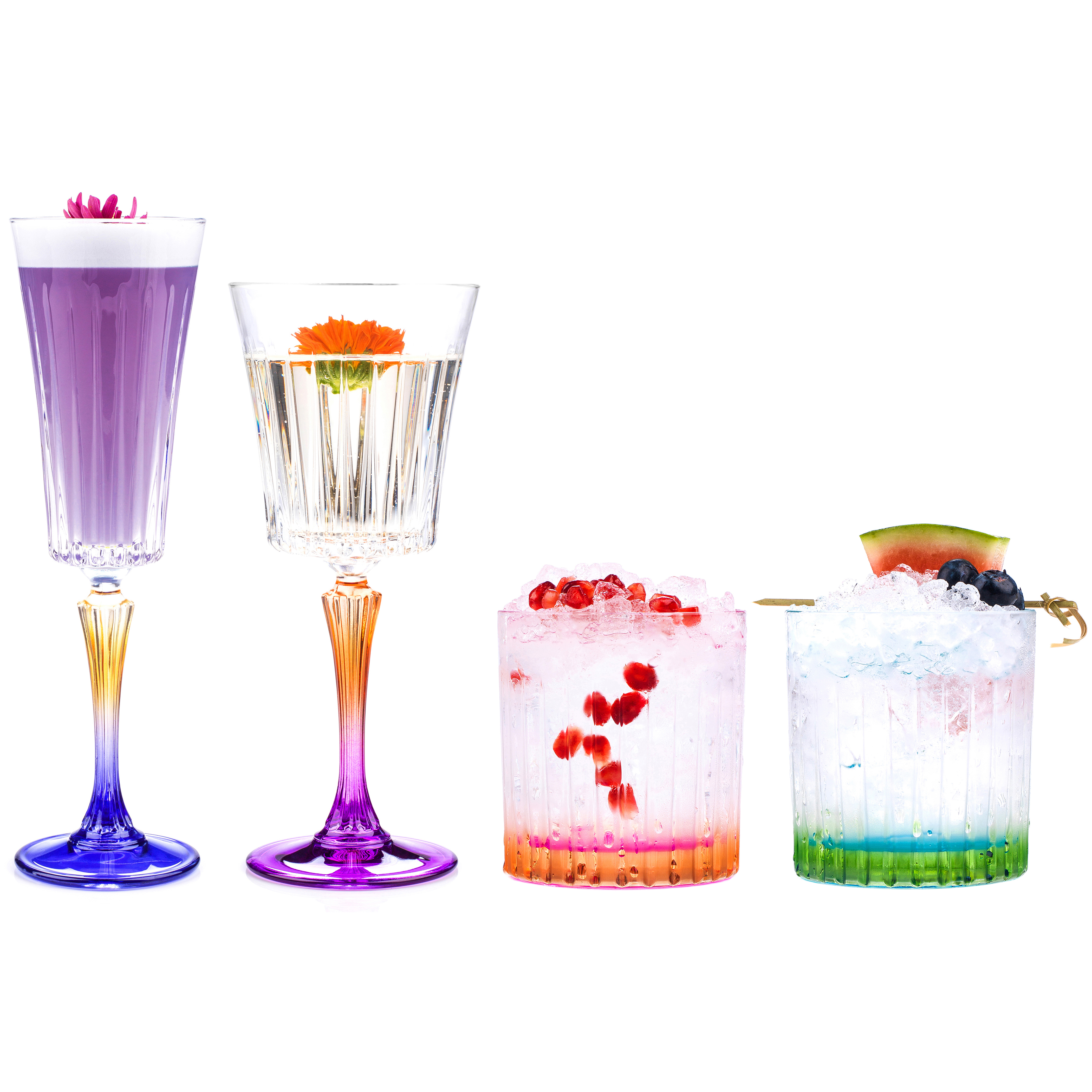 Rcr Combo 3670 Gipsy Luxion Crystal Drinkware Collection 24 Piece No1brands4you