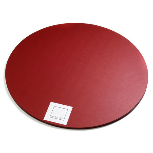 Round Red Bonded Leather Placemats