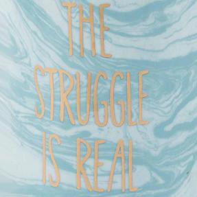 Portobello CM06123NBC The Struggle Is Real Devon Mugs, Blue and White, Set of 2 Thumbnail 4