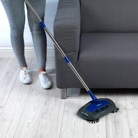 Beldray Rechargeable Electric Floor Sweeper, Blue Thumbnail 4