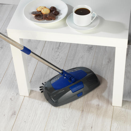 Beldray Rechargeable Electric Floor Sweeper, Blue Thumbnail 5