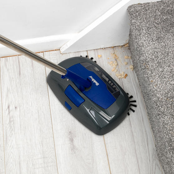 Beldray Rechargeable Electric Floor Sweeper, Blue Thumbnail 7