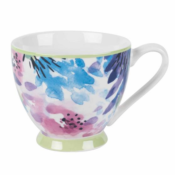 Portobello CM06166NBC Adalyn Mint Sandringham NBC Floral Mugs, Set of 8