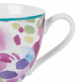 Portobello CM06168NBC Faye Polka Teal Sandringham NBC Floral Mug, Set of 8 Thumbnail 3