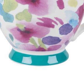Portobello CM06168NBC Faye Polka Teal Sandringham NBC Floral Mug, Set of 8 Thumbnail 4