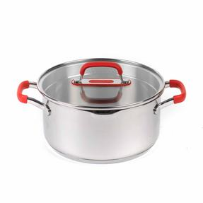 Pyrex COMBO-3400 Passion Casserole Dishes and Stockpot with Lids, 3 Piece Set, Stainless Steel Thumbnail 3