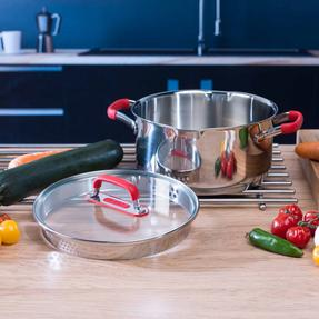 Pyrex COMBO-3401 Passion Stainless Steel Casserole Dishes with Lids, 20/24 cm Thumbnail 5
