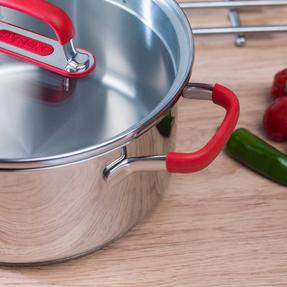 Pyrex COMBO-3401 Passion Stainless Steel Casserole Dishes with Lids, 20/24 cm Thumbnail 8