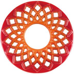 Berndes COMBO-3714 Light Round Casserole Dish with Orange Trivet, Cast Iron, 20 cm Thumbnail 2