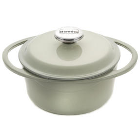 Berndes COMBO-3714 Light Round Casserole Dish with Orange Trivet, Cast Iron, 20 cm Thumbnail 4