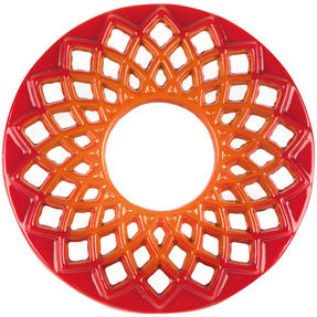 Berndes COMBO-3715 Light Round Casserole Dishes with Orange Trivets, Set of 2, Cast Iron, 20 cm Thumbnail 7