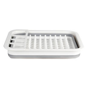 Beldray COMBO-3398 Collapsible Dish Draining Board, Washing Up Bowl and Cleaning Brush Set, Grey/White Thumbnail 6