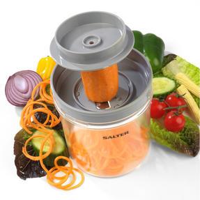 Salter COMBO-3489 Fruit and Vegetable Baton Stick Slicer and Meal Storage Pot Prep Set, White/Green Thumbnail 3