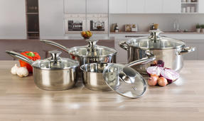 Russell Hobbs COMBO-3516 Classic Collection 4 Piece Pan Set and 24 CM Casserole Pan, Stainless Steel Thumbnail 2