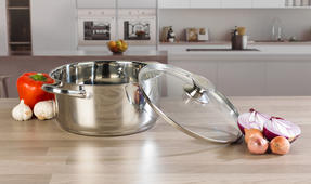 Russell Hobbs COMBO-3516 Classic Collection 4 Piece Pan Set and 24 CM Casserole Pan, Stainless Steel Thumbnail 5