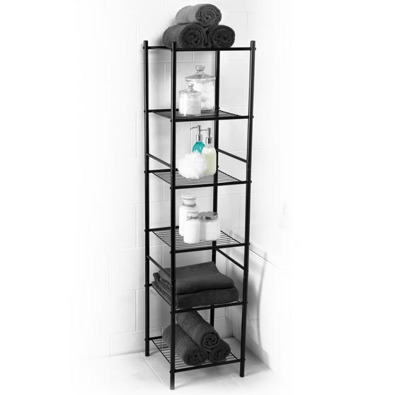 Beldray 6 Tier Bathroom Storage Caddy, 34 x 34 x 141 cm, Black
