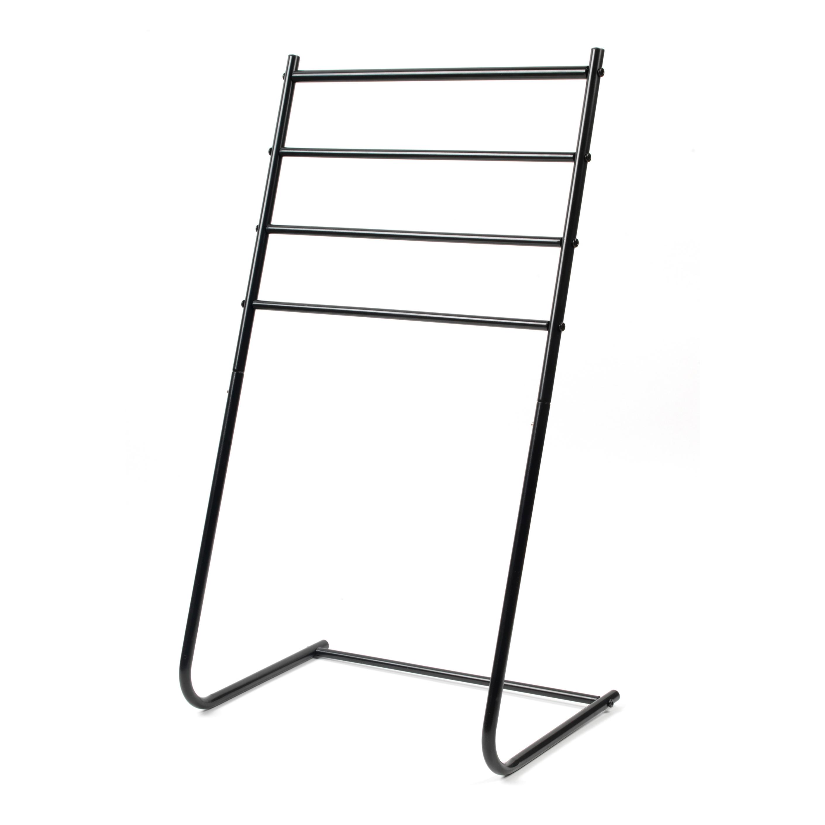 beldray la055477blk 4 tier towel rail  46 cm x 33 cm x 82