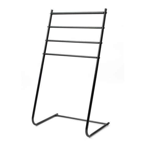 Beldray 4 Tier Towel Rail, 46 cm x 33 cm x 82 cm, Black