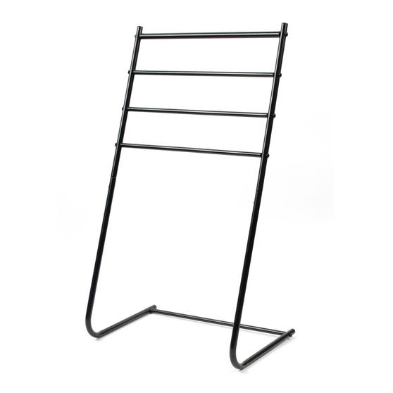 Beldray 4 Tier Towel Rail, 46 cm x 33 cm x 82 cm, Black Thumbnail 1
