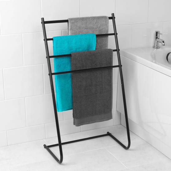 Beldray 4 Tier Towel Rail, 46 cm x 33 cm x 82 cm, Black Thumbnail 2