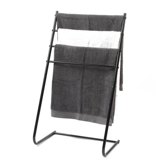 Beldray 4 Tier Towel Rail, 46 cm x 33 cm x 82 cm, Black Thumbnail 3