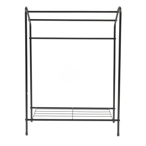 Beldray 3 Tier Towel Rail with Rack, 60 cm x 28.5 cm x 83 cm, Black Thumbnail 4