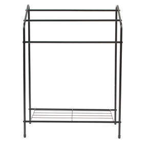 Beldray LA055514BLK 3 Tier Towel Rail with Rack, 60 cm x 28.5 cm x 83 cm, Black Thumbnail 3