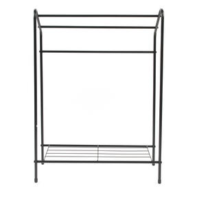 Beldray LA055514BLK 3 Tier Towel Rail with Rack, 60 cm x 28.5 cm x 83 cm, Black Thumbnail 4