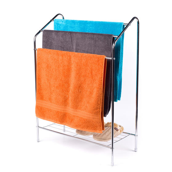 Beldray 3 Tier Towel Rail with Rack, 60 cm x 28.5 cm x 83 cm, Chrome Thumbnail 3