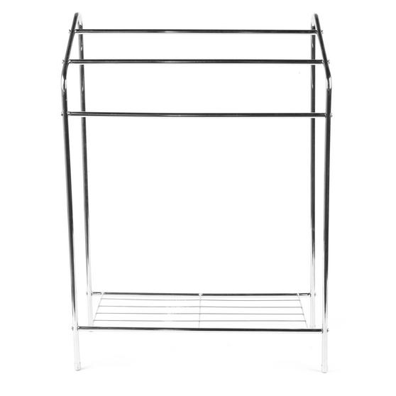 Beldray 3 Tier Towel Rail with Rack, 60 cm x 28.5 cm x 83 cm, Chrome Thumbnail 4
