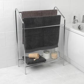 Beldray LA055514CHR 3 Tier Towel Rail with Rack, 60 cm x 28.5 cm x 83 cm, Chrome Thumbnail 2
