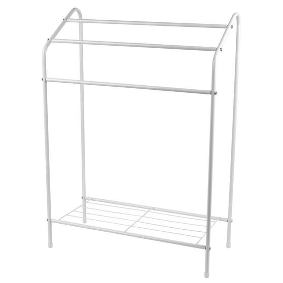 Beldray 3 Tier Towel Rail with Rack, 60 cm x 28.5 cm x 83 cm, White Thumbnail 2