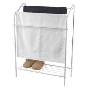 Beldray LA055514WHTE 3 Tier Towel Rail with Rack, 60 cm x 28.5 cm x 83 cm, White Thumbnail 3