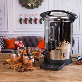 Giles & Posner COMBO-3466 Mulled Wine Dispenser Urn and Three-Pan Buffet Server, Stainless Steel Thumbnail 7