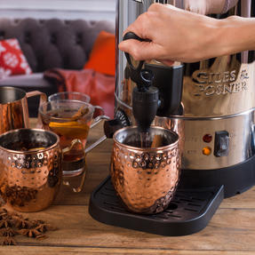 Giles & Posner COMBO-3466 Mulled Wine Dispenser Urn and Three-Pan Buffet Server, Stainless Steel Thumbnail 8