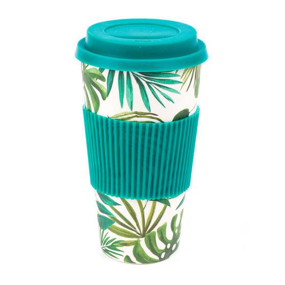Cambridge CM05909 Large Polynesia Bamboo Eco Travel Mug, Set of 4