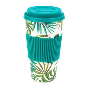 Cambridge CM05909 Large Polynesia Bamboo Eco Travel Mug, Set of 4 Thumbnail 1