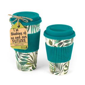 Cambridge CM05909 Large Polynesia Bamboo Eco Travel Mug, Set of 4 Thumbnail 2