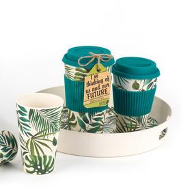 Cambridge CM05909 Large Polynesia Bamboo Eco Travel Mug, Set of 4 Thumbnail 4