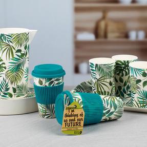 Cambridge CM05909 Large Polynesia Bamboo Eco Travel Mug, Set of 4 Thumbnail 5