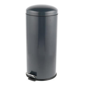 Russell Hobbs RH00388G Dome Pedal Bin, 30 Litre, Grey Thumbnail 1