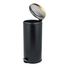 Salter BW07612 Dome Pedal Bin, 30 Litre Black/Gold Thumbnail 2