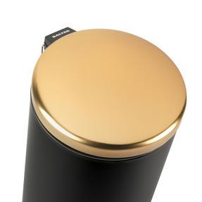 Salter BW07612 Dome Pedal Bin, 30 Litre Black/Gold Thumbnail 4