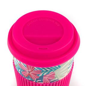 Cambridge CM05972 Tropical Forest Large Eco Travel Mug, Bamboo, Pink, Set of 6 Thumbnail 4