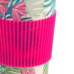 Cambridge CM05972 Tropical Forest Large Eco Travel Mug, Bamboo, Pink, Set of 6 Thumbnail 5