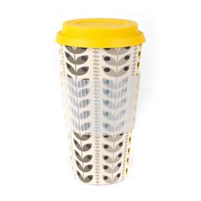 Cambridge CM06193 Retro Daisy Leaf Large Eco Travel Mug, Bamboo, Set of 2 Thumbnail 1