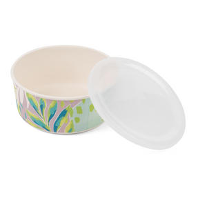 Cambridge CM06391 Reusable Lightweight Meal Prep Boxes, Stackable Food Containers, Set of 3, Kayan Print | Dishwasher Safe |BPA Free | Alternative to Single Use Plastics Thumbnail 4