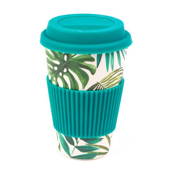 Cambridge CM05918 Polynesia Bamboo Eco Travel Mugs, Set of 4