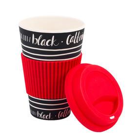Cambridge CM05512 Caffeine Is the New Black Bamboo Eco Travel Mug, Set of 8 Thumbnail 2